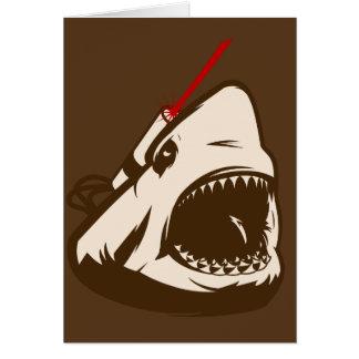 Tiburón con un Frickin de rayo láser Tarjetas