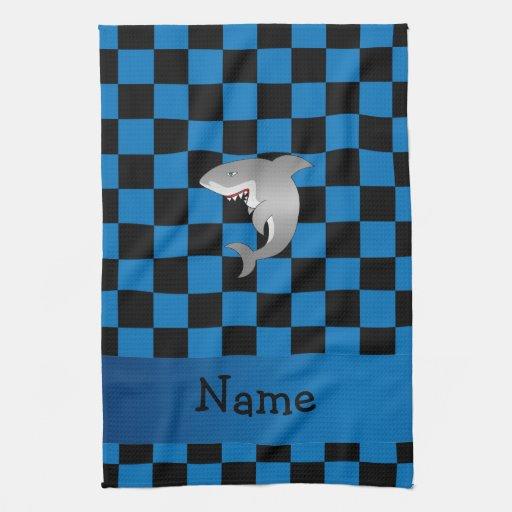 Tiburón conocido personalizado toalla de cocina