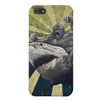 Tiburón contra gorila iPhone 5 cobertura