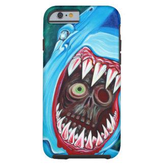 Tiburón contra zombi funda de iPhone 6 tough