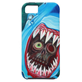 Tiburón contra zombi iPhone 5 funda