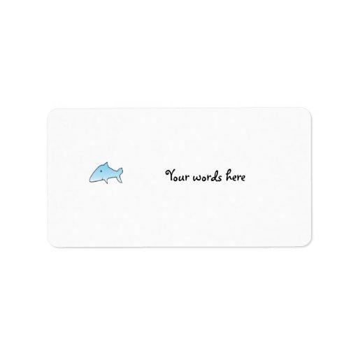 Tiburón de azules cielos etiqueta de dirección