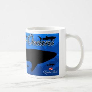 Tiburón de ballena - ahorre nuestros océanos taza