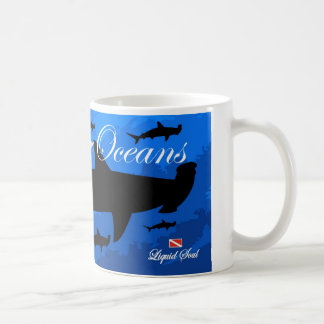 Tiburón de HammerHead - ahorre nuestros océanos Taza