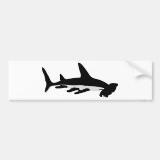 tiburón de hammerhead pegatina de parachoque
