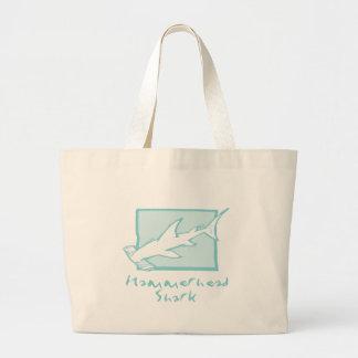 Tiburón de Hammerhead del grabar en madera Bolsa De Mano