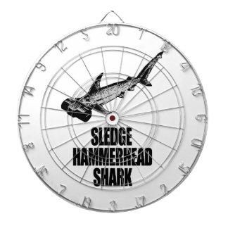 Tiburón de Hammerhead del trineo Tabla Dardos