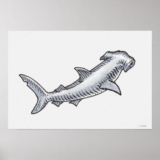 Tiburón de Hammerhead Impresiones