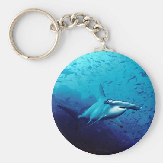 Tiburón de Hammerhead Llavero Redondo Tipo Pin
