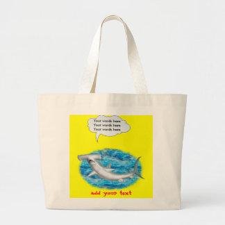 Tiburón de Hammerhead que habla Bolsas De Mano