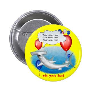 tiburón de hammerhead que habla pin