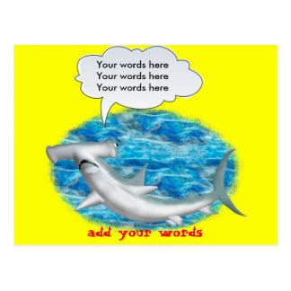 Tiburón de Hammerhead que habla Postal