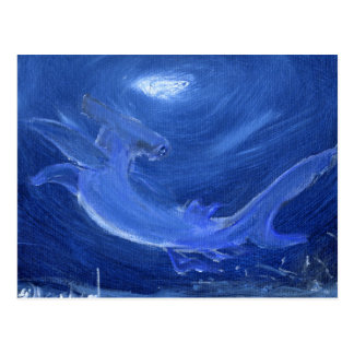 tiburón de hammerhead tarjetas postales