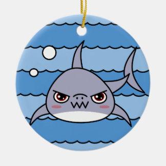 Tiburón de Kawaii Adorno De Navidad