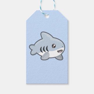 Tiburón de Kawaii Etiquetas Para Regalos