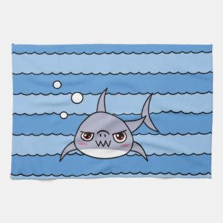 Tiburón de Kawaii Toalla De Cocina