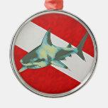 tiburón de la bandera del salto ornamentos para reyes magos