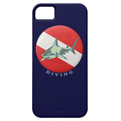 tiburón de la bandera del salto iPhone 5 protector
