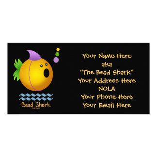 Tiburón de la gota - oro tarjeta fotografica