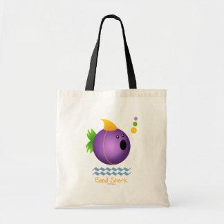 Tiburón de la gota - púrpura bolsas lienzo