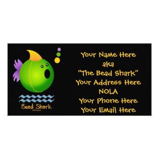 Tiburón de la gota - verde tarjetas personales con fotos