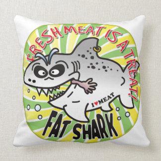 Tiburón de la grasa de la carne fresca almohadas