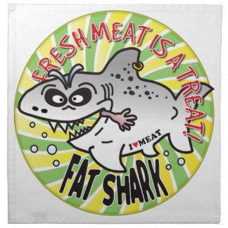Tiburón de la grasa de la carne fresca servilleta de papel