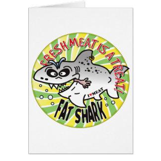 Tiburón de la grasa de la carne fresca tarjetón