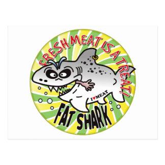 Tiburón de la grasa de la carne fresca postales