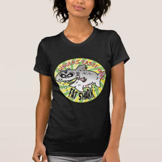 Tiburón de la grasa de los jengibres camiseta