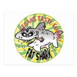Tiburón de la grasa de los veganos postal