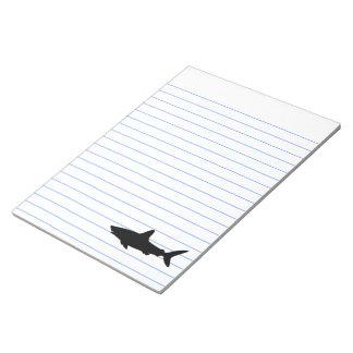 Tiburón de la natación blocs de papel