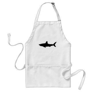 Tiburón de la natación delantales
