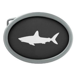 Tiburón de la natación hebillas cinturón ovales