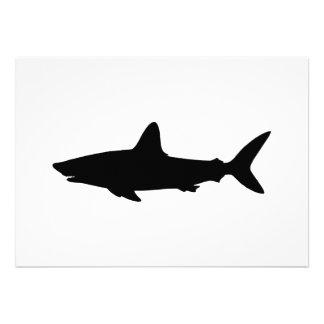 Tiburón de la natación invitaciones personales