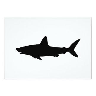 """Tiburón de la natación invitación 5"""" x 7"""""""