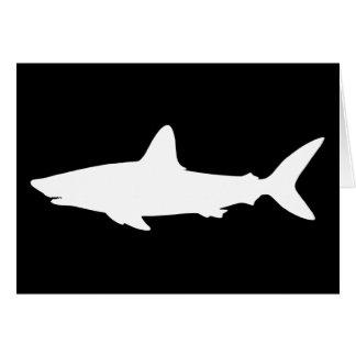 Tiburón de la natación tarjeta de felicitación