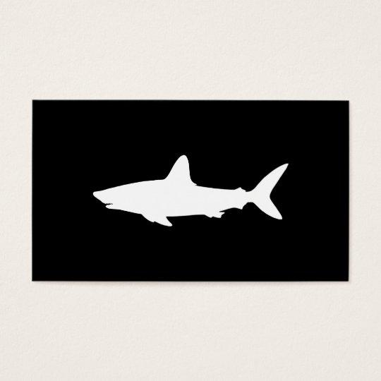 Tiburón de la natación tarjetas de visita