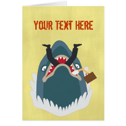 Tiburón de la oficina tarjeton