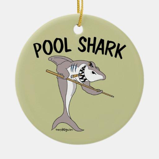 Tiburón de la piscina adorno de navidad