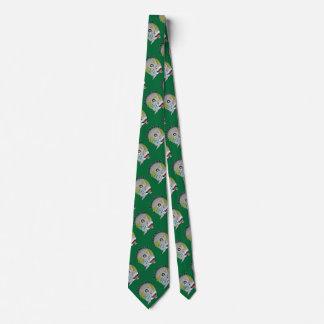 Tiburón de la piscina de nueve bolas en verde corbata personalizada