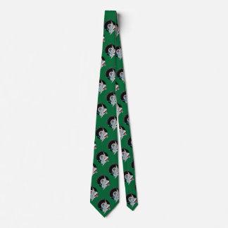 Tiburón de la piscina de ocho bolas en verde corbatas