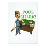 Tiburón de la piscina invitación personalizada
