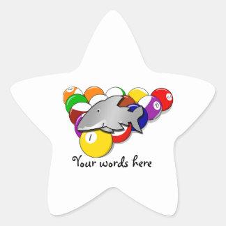 Tiburón de la piscina calcomania forma de estrella personalizada