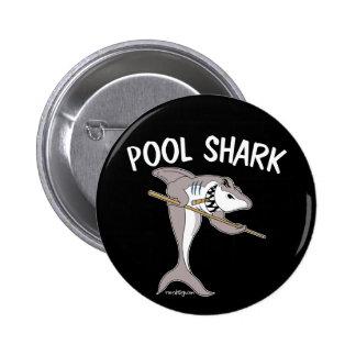 Tiburón de la piscina pin redondo 5 cm