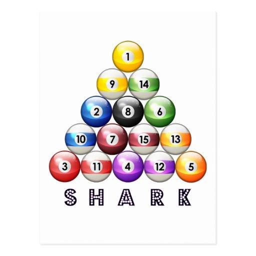 Tiburón de la piscina postales