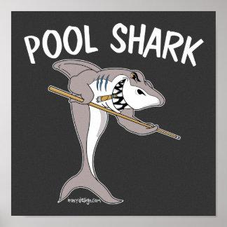 Tiburón de la piscina póster