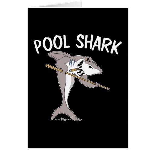 Tiburón de la piscina tarjetas