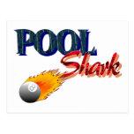 Tiburón de la piscina tarjetas postales