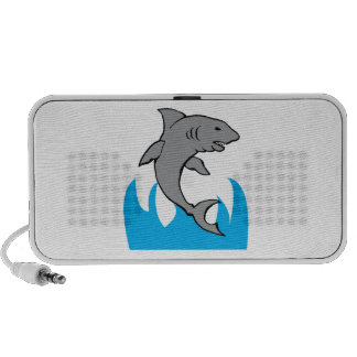 Tiburón de salto portátil altavoz